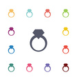ring flat icons set vector image vector image