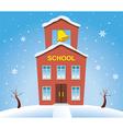 school house in winter vector image vector image