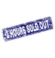 scratched 2 hours sold out framed rounded vector image
