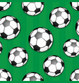 seamless background soccer theme 1 vector image