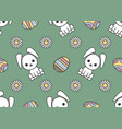 seamless pattern dedicated to easter with the vector image