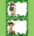 set of boy scout frame vector image vector image