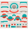 set retro badges labels ribbons and design vector image vector image