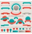 set retro badges labels ribbons and design vector image