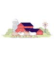 sheep farm flat livestock farming animal vector image vector image