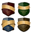 shiny wine label with a gold ribbon vector image vector image