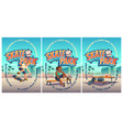 skate park poster with boy riding on skateboard vector image