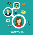 Social network and teamwork concept for web and vector image vector image