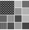 Striped textures set vector image