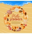 Summer Sea Shells Poster vector image vector image