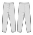 Sweat pants fashion flat sketch template