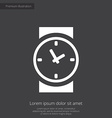 time premium icon white on dark background vector image vector image