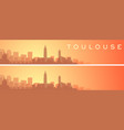 toulouse beautiful skyline scenery banner vector image vector image