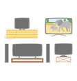 tv screens set television monitors with audio vector image vector image