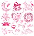 valentine day calligr 6 380 vector image vector image