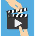 video clapper vector image