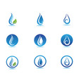 water drop logo template design vector image vector image