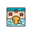 website with shield browser antivirus cyber vector image vector image