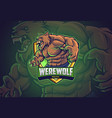 werewolf esports logo design vector image vector image