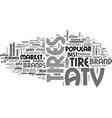 which brand of atv tires is the best text word vector image vector image