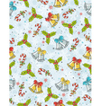 wrapping paper with christmas elements vector image