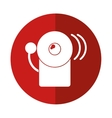 alarm fire emergency alert icon red circle vector image