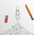 Pencil and eraser vector image