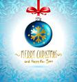 Christmas ball Christmas tree decorations blue vector image