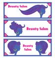 Creative hair salon banners vector image