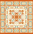 a bright orange handkerchief in oriental style vector image vector image