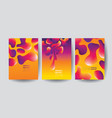 abstract fluid shapes design i vector image