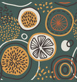 abstract seamless pattern with lemons vector image vector image