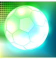 Abstract soccer ball background vector image
