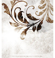 Abstract Vintage Background with Autumn Leaves vector image vector image