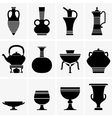 Ancient crockery vector image
