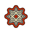 arabic ornament isolated oriental decorative vector image vector image