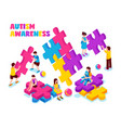autism awareness isometric vector image