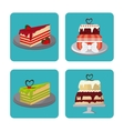 Bakery and cake design vector image