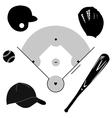 Baseball icons vector image vector image