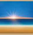 beach and tropical sea with sun sunset vector image vector image