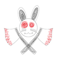 Bloody White Rabbit Axe vector image vector image