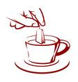 brewing tea vector image vector image