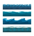 Cartoon ocean sea water waves seamless vector image vector image