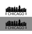 chicago icon in on white background vector image vector image
