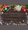 christmas greeting card with letter to santa and vector image