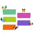 collection blank board with boys vector image vector image