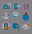 communication stickers for web vector image vector image