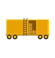 container with boxes vector image