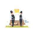 couple of male and female police officers vector image vector image