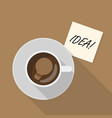 cup coffee top view vector image